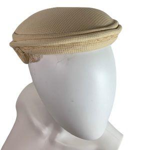 Vintage 1950's Ivory Cream Textured Elegant Cap